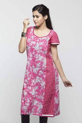 Avishi Pink Styish Printed Kurti