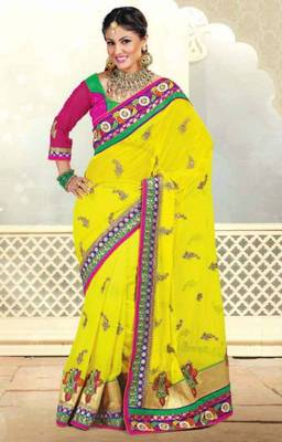 Designer Georgette Heavy Saree