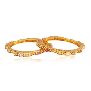 Hi-fliers choice gold plated antique bangle