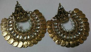 Gold Plated Beaautiful Kundan Ram Leela Earrings
