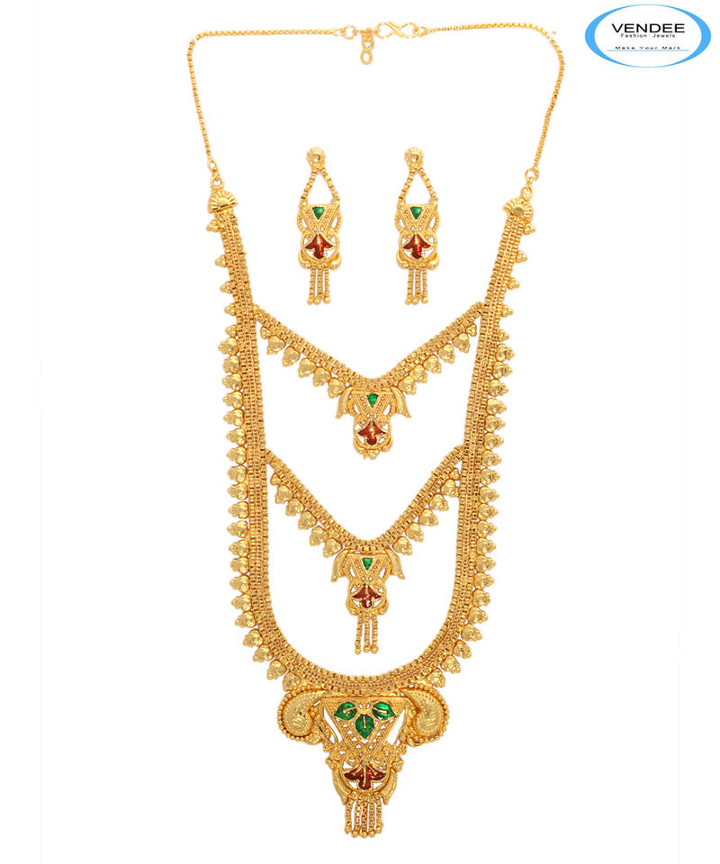 387eafedb7 1 gram gold plated necklace - Vendee Fashion - 12129