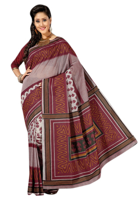 Triveni Sophisticated Multi Colored Cotton Printed Indian Traditional Saree