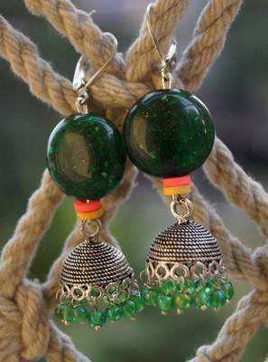 JHUMKA REDEFINED-sexy green