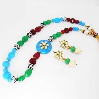 Designer Side Pendant Mala Necklace 2