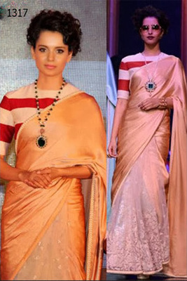 Kanagana Ranaut in WILLS fashion week saree