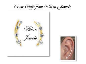 Solitaire Ear Cuffs