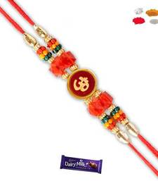 Buy Om and red bead divine rakhi divine-rakhi online