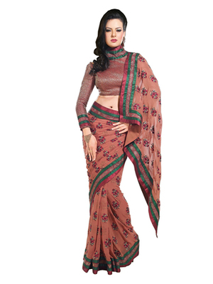 Zoom Fabric  Pure Georgette Saree 703