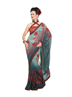 Zoom Fabric  Pure Georgette Saree 705