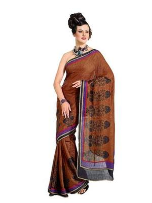 Zoom Fabric crepe  Saree 732