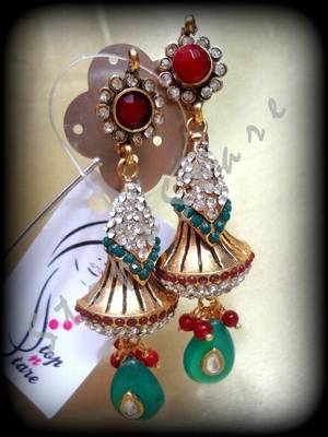 hiranya polki long earring