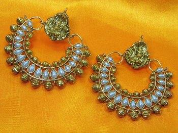 Ramleela Original Earring with White Pearls
