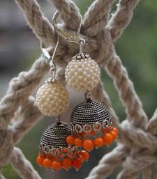 Buy ORANGE PEARL JHUMKA gifts-for-her online