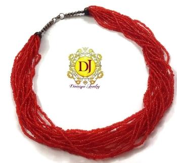 Red beads n beads everywhere