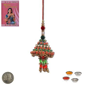 Designer handmade rajasthani lumba rakhi fine gift