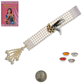 Handcrafted traditional cute lumba rakhi fine gift