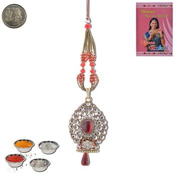 Rajasthani exclusive design lumba rakhi fine gift