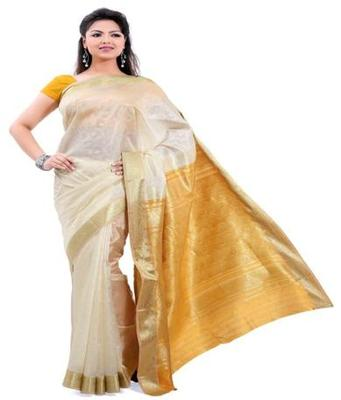Dealtz Fashion Red Poly Silk Saree
