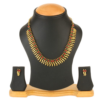 Traditional Gold Plated Coin Necklace set