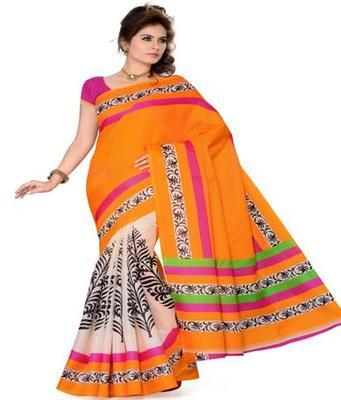 Dealtz Fashion Multicolor Bhagalpuri Silk Saree