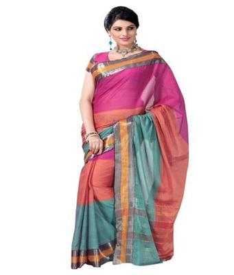 Dealtz Fashion Multicolor Cotton  Saree
