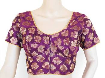 Eggplant Chanderi blouse