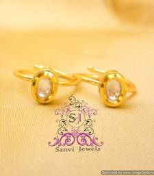 Oval Shaped Kundan Toe Ring