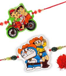 Buy Handmade Designer Traditional kids Fancy Rakhi Set bhaiya-bhabhi-rakhi online