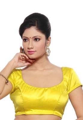 Yellow Jasmine Silk Unstitched Blouse - PSB058