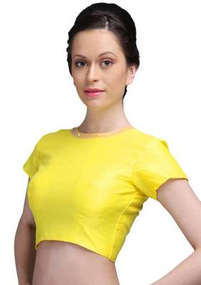 Yellow Jasmine Silk Unstitched Blouse - PSB066