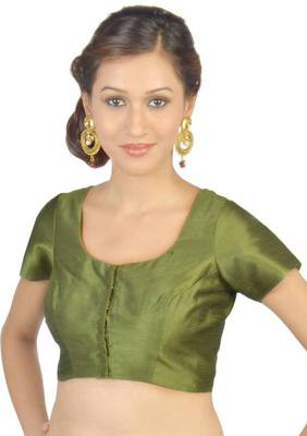 Green Jasmine Silk Unstitched Blouse - PSB068