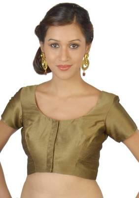 Green Jasmine Silk Unstitched Blouse - PSB075