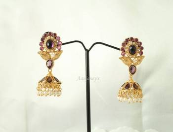Antique Jhumkas Earrings Traditional Trendy Ethnic Indian Handmade