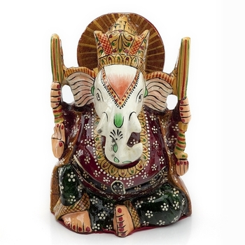 Handpainted Enamelled Metal Ganapati_04