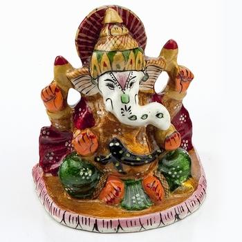 Handpainted Enamelled Metal Ganapati_10
