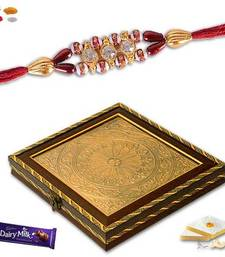 Buy Exclusive gift box and bracelet rakhi with kaju katali sweet bracelet-rakhi online