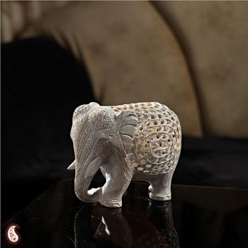 Carved stone Elephant showpiece