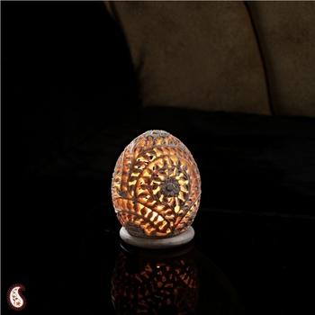 Oval carved Tea light holder