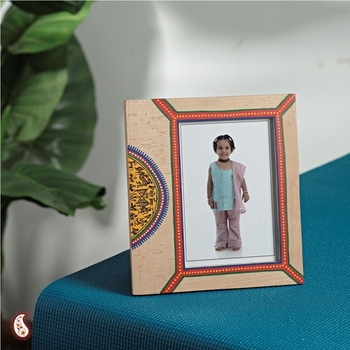 Ethnic wooden photo frame