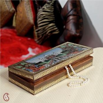 Taj Mahal designed Gemstone Jewel box