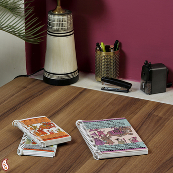 Spiral Binding Ethnic Printed Hand Made Paper Diary set