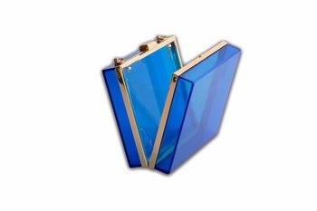 Blue Acrylic Clutch