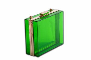 Green Acrylic Clutch