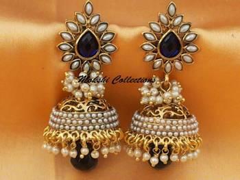 Beautiful Blue Aashiqui2 Earrings