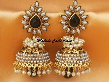 Beautiful Black Aashiqui2 Earrings