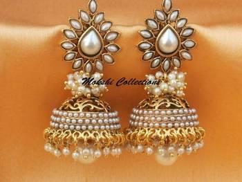 Lovely White Aashiqui2 Earrings