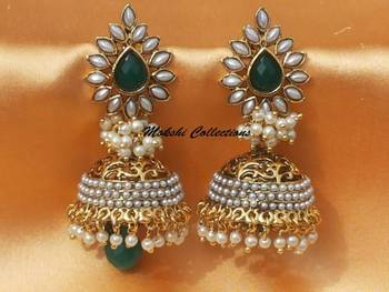 Gorgeous Green Aashiqui2 Earrings