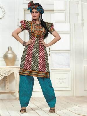 Dress material cotton designer prints unstitched salwar kameez suit d.no PS1301