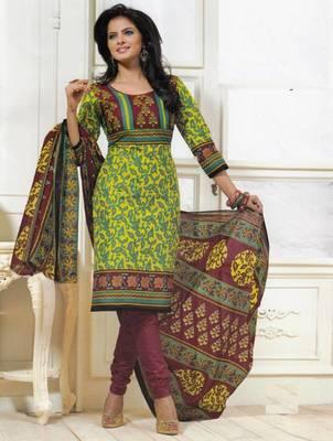 Dress material cotton designer prints unstitched salwar kameez suit d.no PS1303