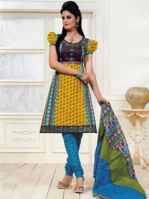 Dress material cotton designer prints unstitched salwar kameez suit d.no PS1305